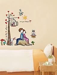 pegatinas de pared de etiquetas de la pared, romántico amor par de pegatinas de pared del pvc