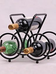 affichage barre de décoration en acier de design vintage de casier à vin de la barre de support de porte-bouteilles