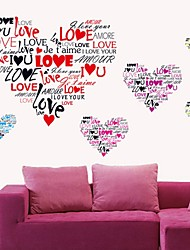 Wall Stickers Wall Decals, Romantic I LOVE YOU HeartLetters PVC Wall Stickers