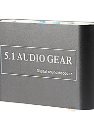 Optical SPDIF/ Coaxial Dolby AC3 DTS Digital to 5.1/ 2.1 CH Analog Audio Decoder