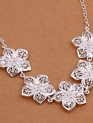 Women's Silver Plated Fashion Glisten Necklace