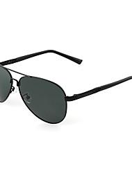 Les lunettes de soleil aviateur conduite alliage rétro des hommes polarisés