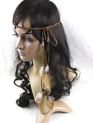 Indian Native Boho Hippie Feather Carnival Headband