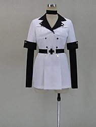 Inspired by Akame Ga Kill! Ace Anime Cosplay Costumes Cosplay Suits Patchwork White Short Sleeve Top / Hat / Stockings