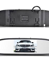 """12v 4 capteurs de stationnement 4.3 """"TFT LCD miroir voiture appareil d'affichage vidéo de recul reverse système radar"""