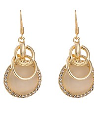 Woman's  Fashion Bicyclic Gold-Plated Zircon Earrings