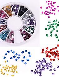 600pcs 12 Farbe Pflaume förmige Diamant-Nagelkunstdekoration