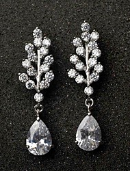 Stylish and Elegant Leafy Breeze AAA CZ Earrings