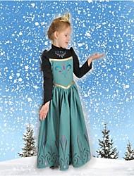 primavera y otoño vestido de princesa vestido de la muchacha vestido de manga larga