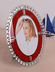photo frame de cristal oval (cores aleatórias)