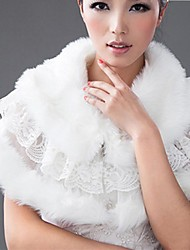 Winter Fashionable Warm-keeping Lace-up Fur Shawl for Wedding Wraps