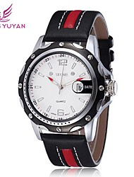 SKONE® Men's Watch Japanese Quartz Sport Watch Calendar PU Band Cool Watches Unique Watches