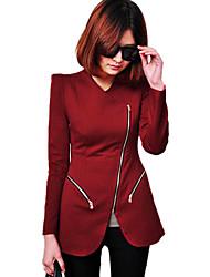 estilo europeo párrafo largo delgado traje pequeño prendas de vestir exteriores de las mujeres