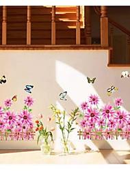 Wandaufkleber Wandtattoo, Blume PVC-Wandaufkleber