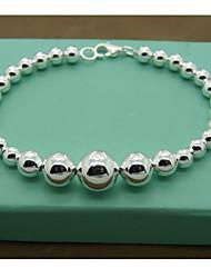 argenté de haute qualité pure élégant bracelet