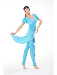 Belly Dance Practice Elegant Outfits Top and Pants(More Colors)