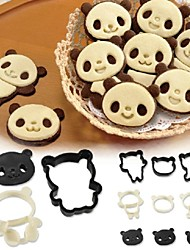 Arnest Panda Cookie Mould Set Japan Cartoon Cake Chocolate DIY Stereo Baking Tool