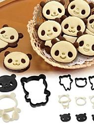 Arnest panda biscuits moule gâteau définir bande dessinée japon chocolat outil de cuisson stéréo bricolage