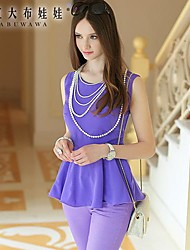 Women's Purple Shirt Sleeveless