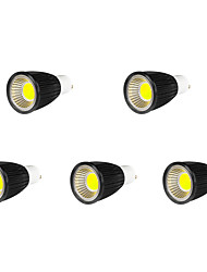 9W GU10 LED Spotlight MR16 9 COB 700-750 lm Cool White AC 85-265 V 5 pcs