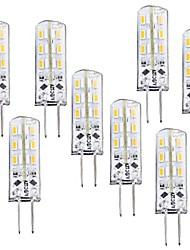 1.5W G4 Ampoules Maïs LED T 24 SMD 3014 100-120 lm Blanc Chaud Graduable DC 12 V 8 pièces