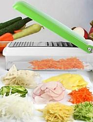 1 pièces Carotte Pomme de terre Concombre Cutter & Slicer For Pour Fruit Pour légumes Plastique Multifonction Creative Kitchen Gadget