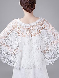 Spring and Summer White Openwork Bride Wedding Shawl Thin Section