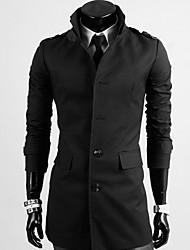 sportstreet мужская мода стоять воротник оболочки пальто