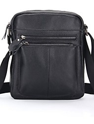Men's Business Affairs Plain Colour Pu Crossbody  Messenger