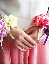 Wedding Flowers Hand-tied Roses Wrist Corsages Wedding / Party/ Evening Polyester