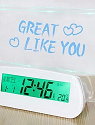 Creative Message Board Fluorescent Acoustic Speaking Alarm Clock