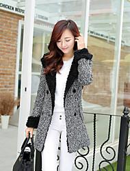 moda casaco de moletom com capuz de lã das mulheres szgood