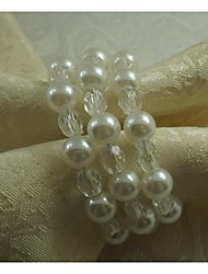Acrylic Pearl Napkin Ring, Acrylic, 1.77 Inch, Set Of 100