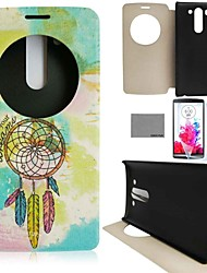 COCO FUN® Painting Wind-Bell Pattern PU Full Body Leather Case with Screen Protector and Stylus for LG G3 MINI