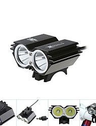 5000Lm 2x CREE XM-L T6 LED Head Front Bicycle Lamp Bike Light Headlamp Headlight