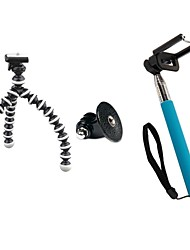 Self-timer Set (Small Tripod, GOPRO Adapter, Blue Self-pole, Mobile Phone Clip)