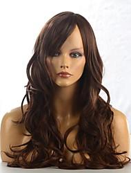 pelucas de cabello de alta calidad sin tapa sintéticas rectas marrones fashional