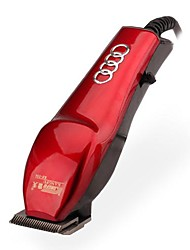 Red Electric Hair Clipper Trimmer with European Plug Adapter