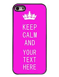 cas personnalisé rose garder le calme cas design en métal pour iPhone 5 / 5s