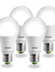 E26/E27 Lâmpada Redonda LED G60 COB 560-630 lm Branco Frio AC 100-240 V 4 pçs