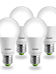 7W E26/E27 LED Globe Bulbs G60 COB 560-630 lm Cool White AC 100-240 V 4 pcs