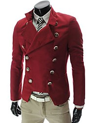 Big Fashion Men's Double Button Fitted Suit Blazer