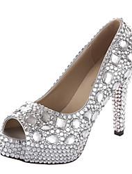 Scarpe da sposa - Scarpe col tacco - Tacchi / Spuntate / Plateau - Matrimonio - Argento - Da donna