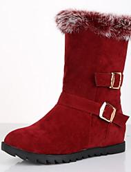de schoenen van vrouwen mode laarzen lage hak halverwege de kuit laarzen met gesp meer kleuren beschikbaar