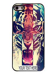 Personalized Case Tiger Pattern Metal Case for iPhone 5/5S