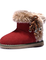 Girl's Boots Winter Comfort / Round Toe / Closed Toe Suede / Faux Fur Outdoor / Casual / Athletic Flat HeelLace-up / Magic Tape / Hook &