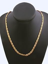 Figaro cadeia 60 centímetros homens dourado chapeado colares cadeia