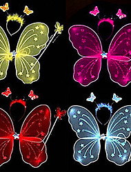 Butterfly Fairy Wings and Magic Wand Kids Festival Accessories