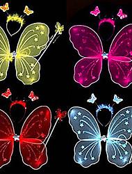 asas de borboleta de fadas e varinha mágica crianças festival acessórios
