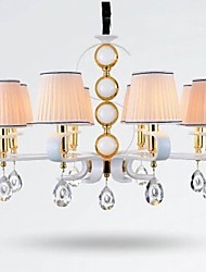 New  Fabric Chandelier 8 Light Modern Minimalist High-Grade  Lamp 110V or 220V